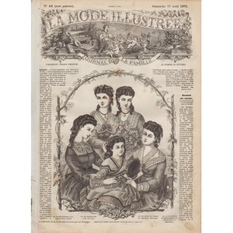 Complete magazine La Mode Illustrée 1870 N°16