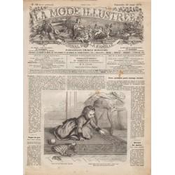 Complete magazine La Mode Illustrée 1870 N°12