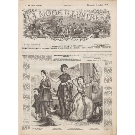 Complete magazine La Mode Illustrée 1870 N°27