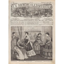 Complete magazine La Mode Illustrée 1870 N°28