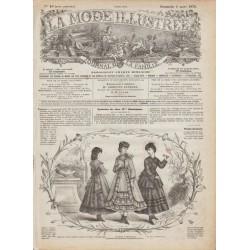 Complete magazine La Mode Illustrée 1870 N°10
