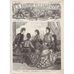 Complete magazine La Mode Illustrée 1870 N°40