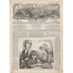 Complete magazine La Mode Illustrée 1870 N°25
