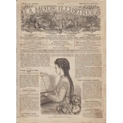Complete magazine La Mode Illustrée 1870 N°01