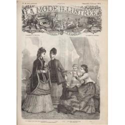 Complete magazine La Mode Illustrée 1871 N°06