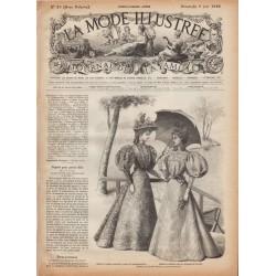 журнал мода La Mode Illustrée 1895 N°23