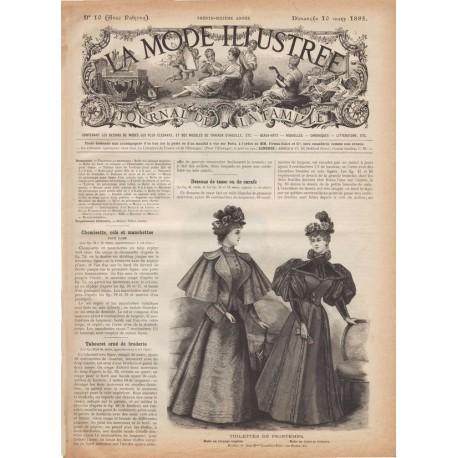 Complete magazine La Mode Illustrée 1895 N°10