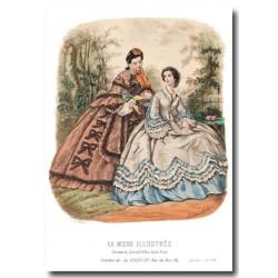 Gravure La Mode Illustrée 1862 28