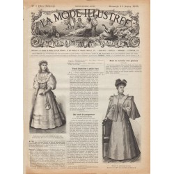журнал мода La Mode Illustrée 1895 N°07