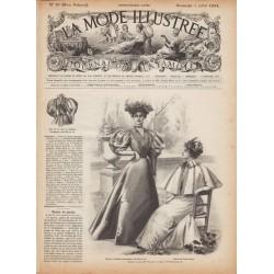 Complete magazine La Mode Illustrée 1895 N°27