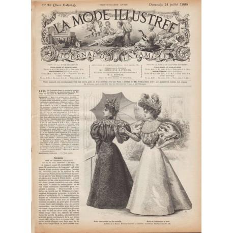Complete magazine La Mode Illustrée 1895 N°29