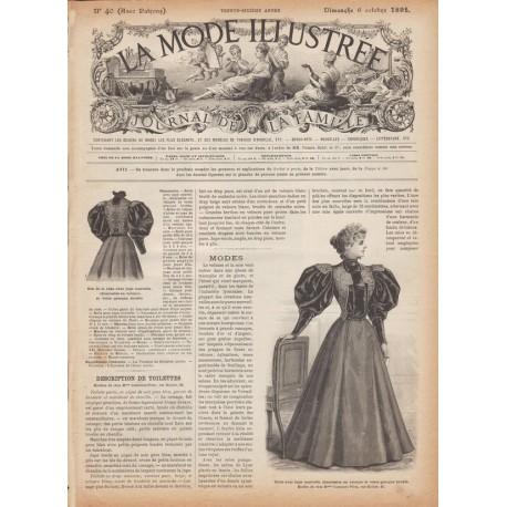 Complete magazine La Mode Illustrée 1895 N°40