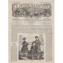 Complete magazine La Mode Illustrée 1874 N°49