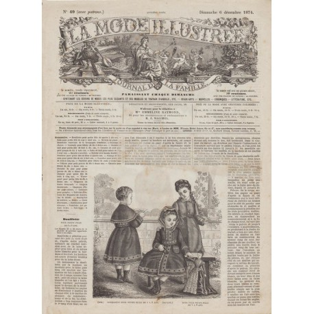 Revue complète de La Mode Illustrée 1874 N°49