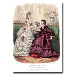 Gravure La Mode Illustrée 1870 4