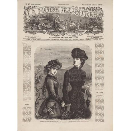magazine La Mode Illustrée 1882 N°43