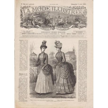 Revue complète de La Mode Illustrée 1886 N°32