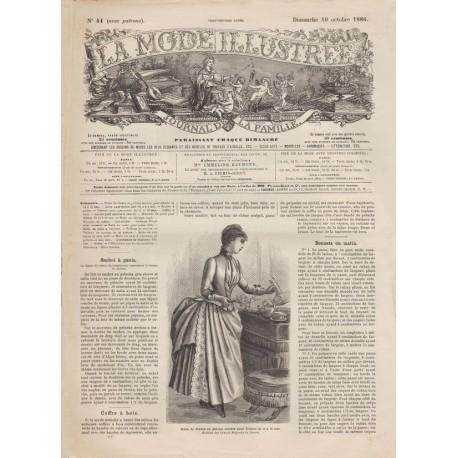 Complete magazine La Mode Illustrée 1886 N°41