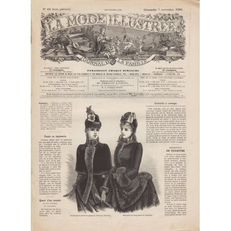 Revue complète de La Mode Illustrée 1886 N°45