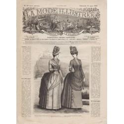 Complete magazine La Mode Illustrée 1887 N°11