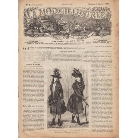 Complete magazine La Mode Illustrée 1889 N°01