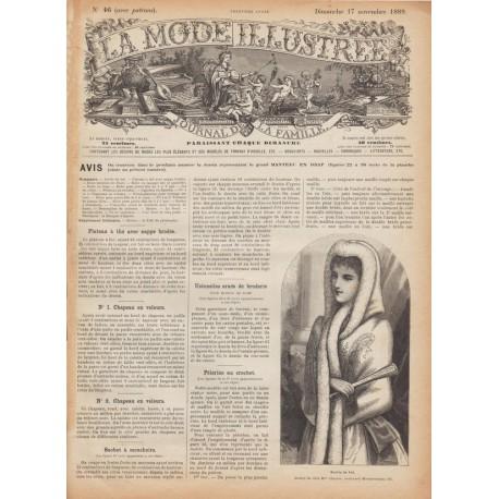 Complete magazine La Mode Illustrée 1889 N°46