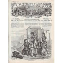 Complete magazine La Mode Illustrée 1871 N°30
