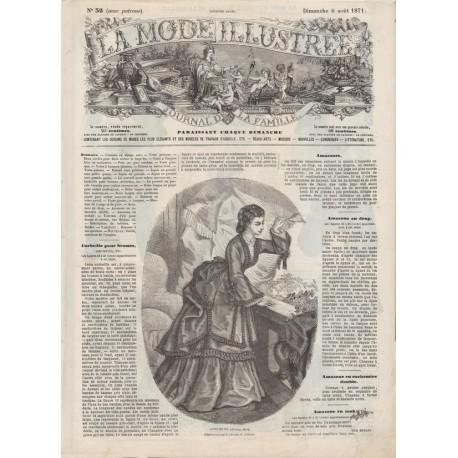 Complete magazine La Mode Illustrée 1871 N°32