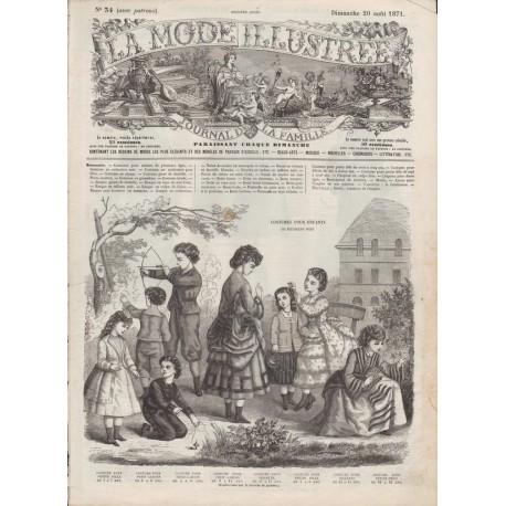 Complete magazine La Mode Illustrée 1871 N°34