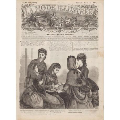 Complete magazine La Mode Illustrée 1871 N°36