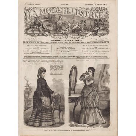 Complete magazine La Mode Illustrée 1871 N°42