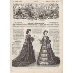 Complete magazine La Mode Illustrée 1871 N°45