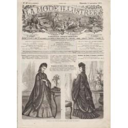 Complete magazine La Mode Illustrée 1871 N°47