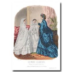 Gravure La Mode Illustrée 1870 12