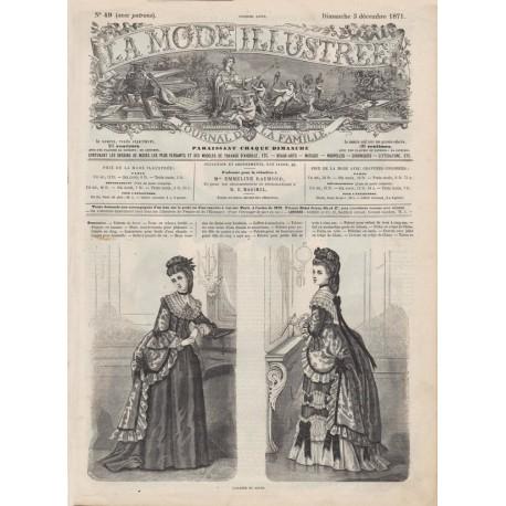 Complete magazine La Mode Illustrée 1871 N°49