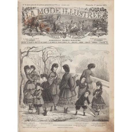 журнал мода La Mode Illustrée 1871 N°01
