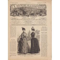 журнал мода La Mode Illustrée 1885 N°16