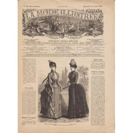 Complete magazine La Mode Illustrée 1885 N°16