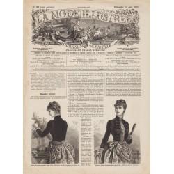 журнал мода La Mode Illustrée 1885 N°20