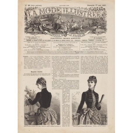 Complete magazine La Mode Illustrée 1885 N°20