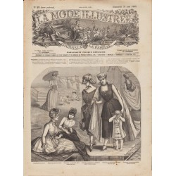 журнал мода La Mode Illustrée 1885 N°22