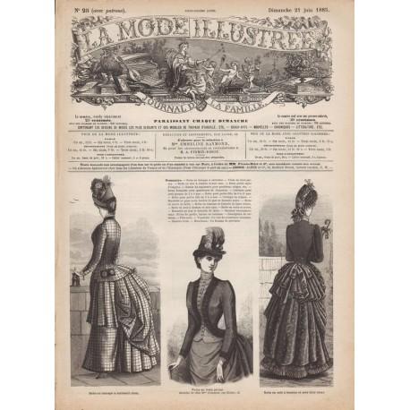 Complete magazine La Mode Illustrée 1885 N°25