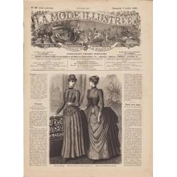 Complete magazine La Mode Illustrée 1885 N°27