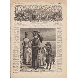 Complete magazine La Mode Illustrée 1885 N°31