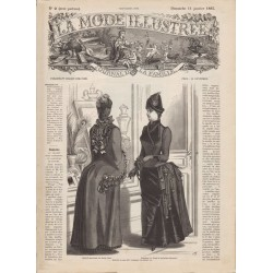 журнал мода La Mode Illustrée 1885 N°02