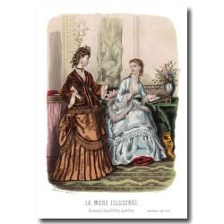 Gravure La Mode Illustrée 1870 41