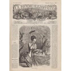 журнал мода La Mode Illustrée 1885 N°04