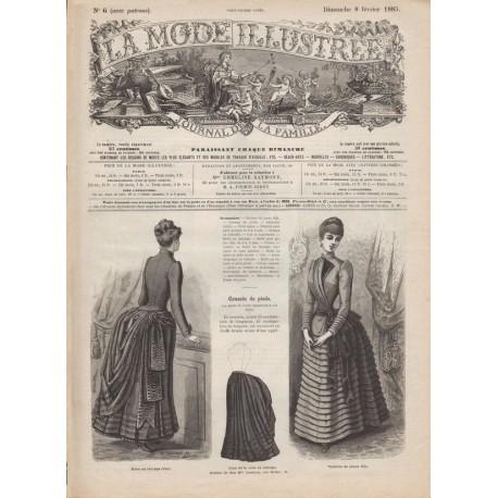 Complete magazine La Mode Illustrée 1885 N°06