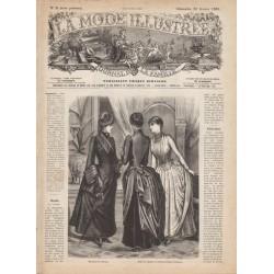 журнал мода La Mode Illustrée 1885 N°08