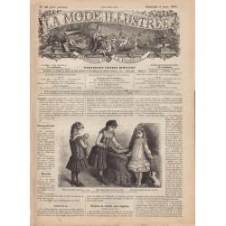 журнал мода La Mode Illustrée 1885 N°10